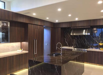 La Jolla Puck Lighting With Recessed LED Under Cabinet Lights