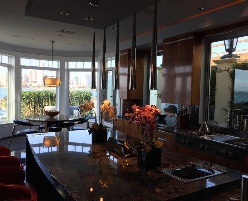Soffit lighting in Coronado kitchen remodel