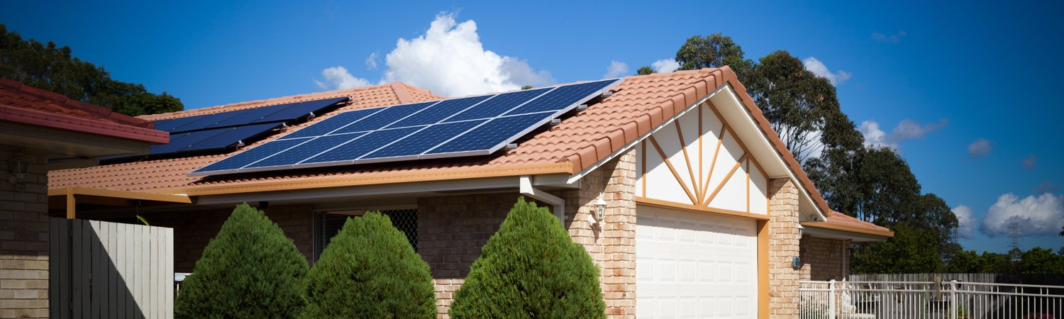 Solar panel installation on south facing roof