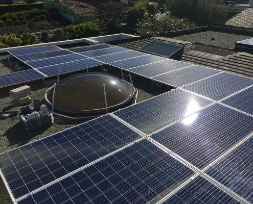 Q Cells solar installation around natural lighting