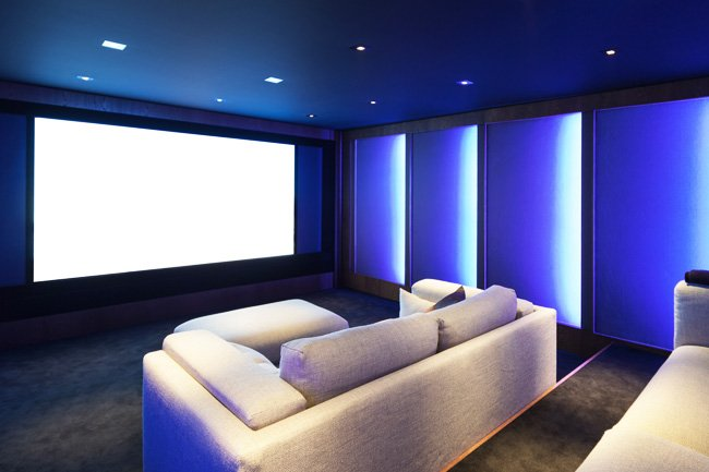 home theater installed in San Diego home