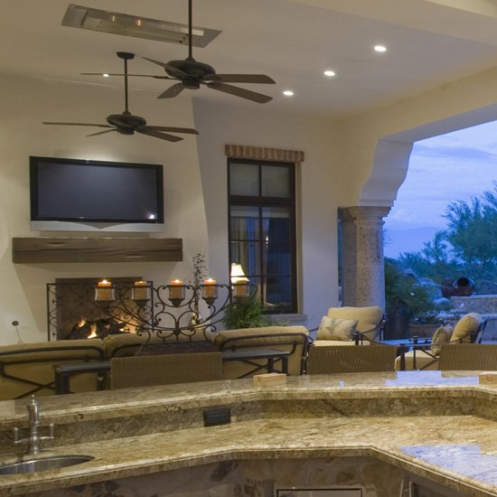 Outdoor entertainment with outdoor television installation in San Diego