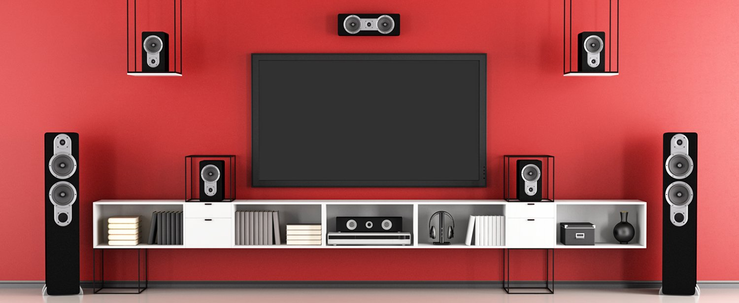 San Diego Smart home audio video with red wall
